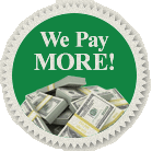 We pay more